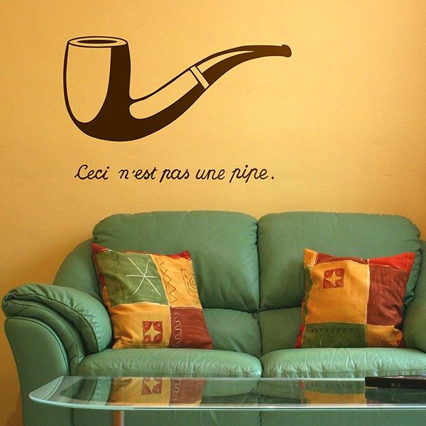 Wall Stickers: Pipe Magritte