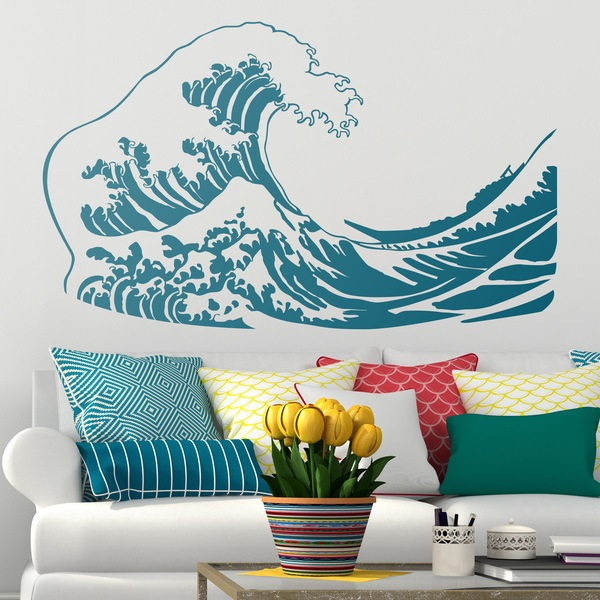 Wall Stickers: The great wave of Kanawa