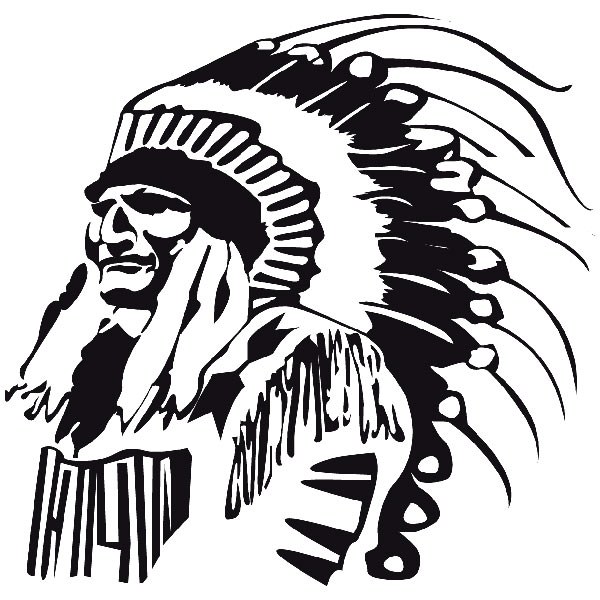 Car and Motorbike Stickers: indio3