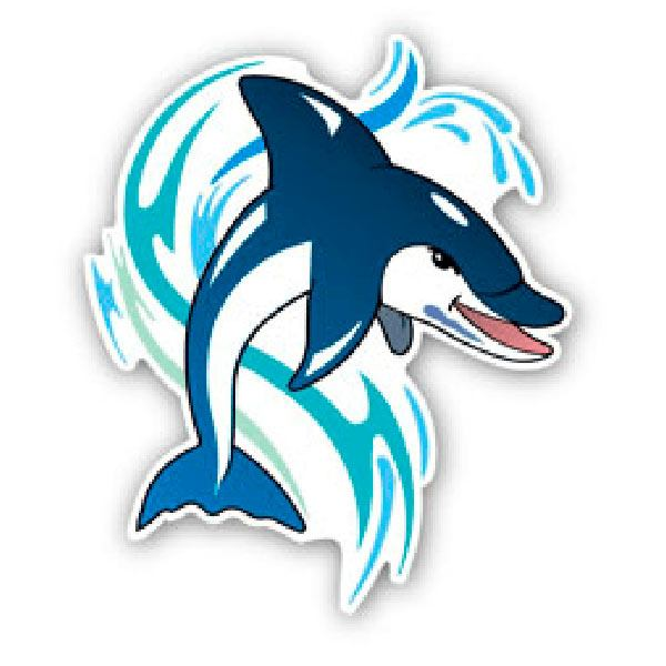 Car and Motorbike Stickers: Dolphin 1