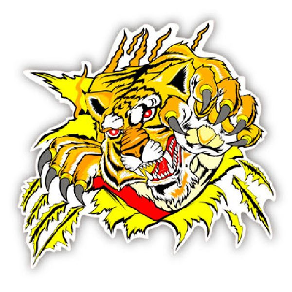 Car and Motorbike Stickers: Tigger 1