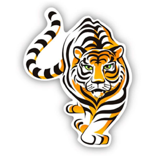 Car and Motorbike Stickers: Tiger 4