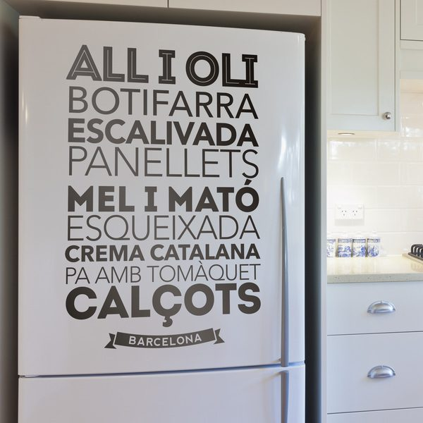 Wall Stickers: Gastronomy in Barcelona