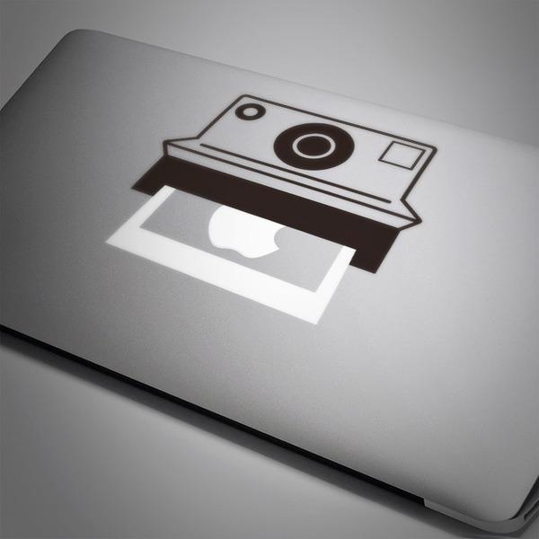 Car and Motorbike Stickers: Polaroid camera