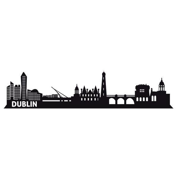 wall stickers dublin skyline wall stickers ireland