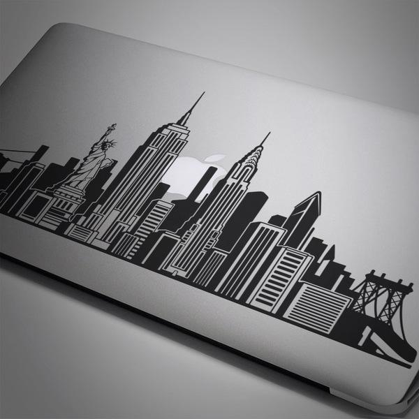 Car and Motorbike Stickers: New York Skyline