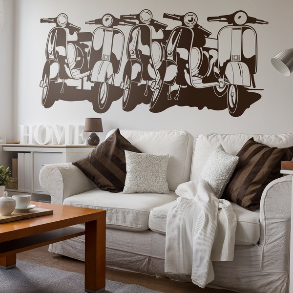 Wall Stickers: Vespas in Rome