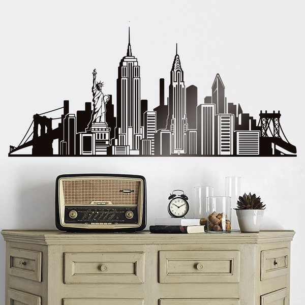 Wall Stickers: Icons Skyline NYC