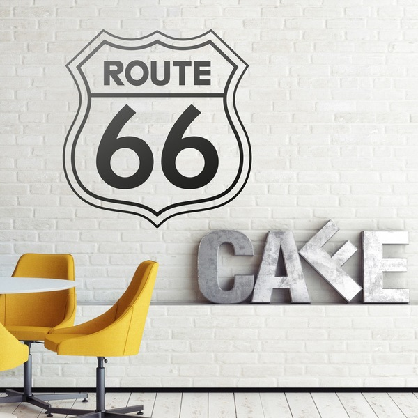 Wall Stickers: Route 66 sign