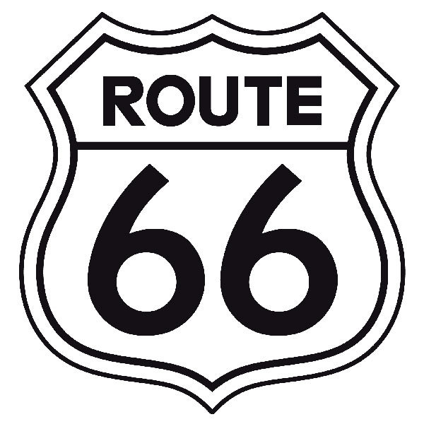 Wall Decal Route 66 Sign Muraldecal Com