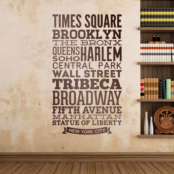 Wall Stickers: Typographic Streets of New York