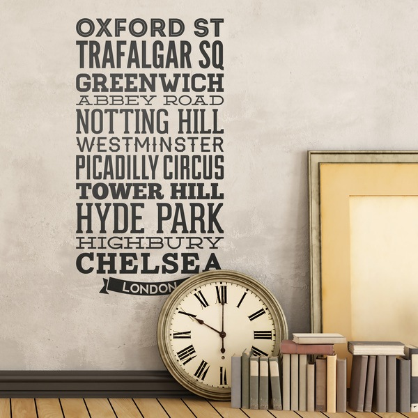 Wall Stickers: Typographic Streets of London