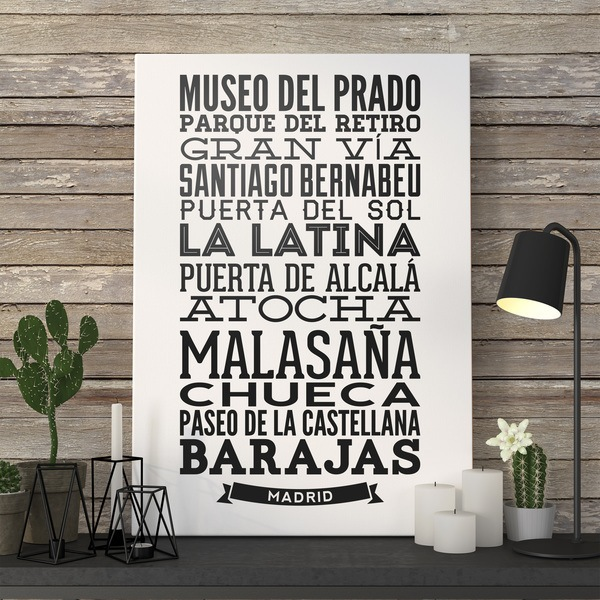 Wall Stickers: Typographic of Streets of Madrid