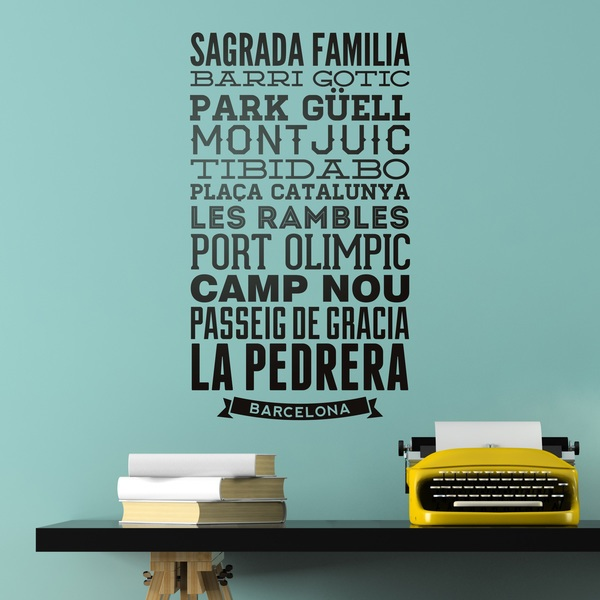 Wall Stickers: Typographic of Streets of Barcelona