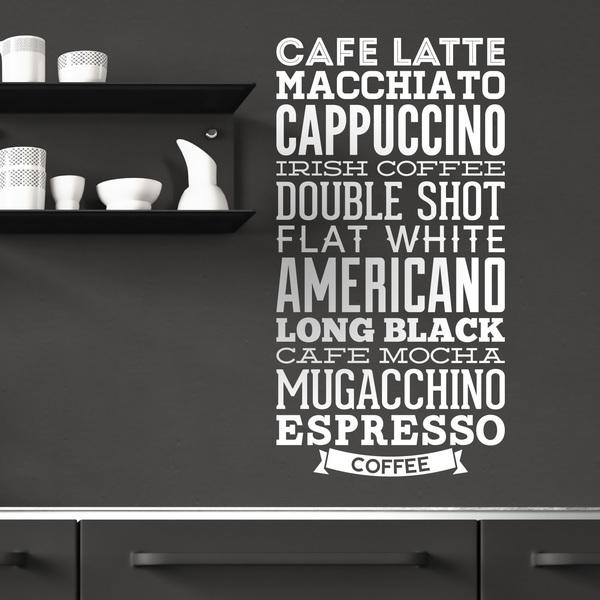Wall Stickers: Coffee varieties