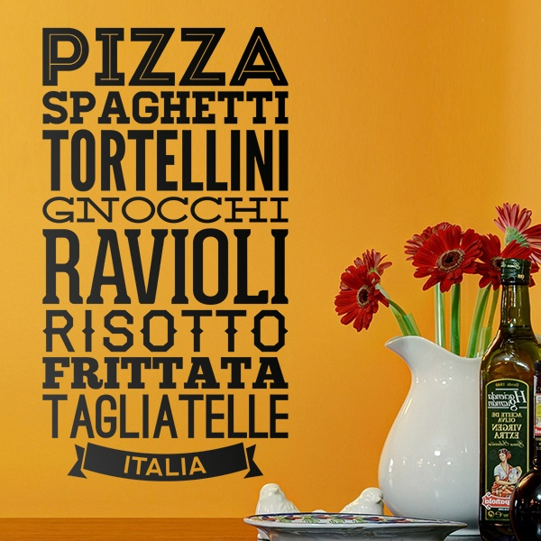 Wall Stickers: Gastronomy of Italy
