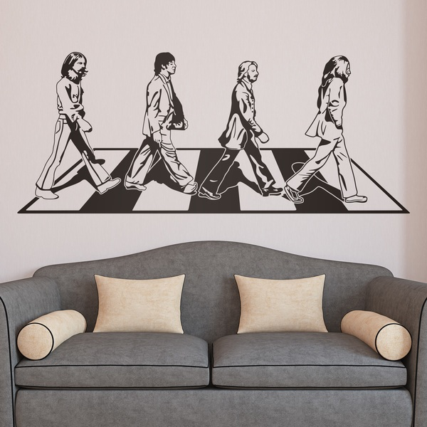 London british style wall stickers for Abbey road wall mural