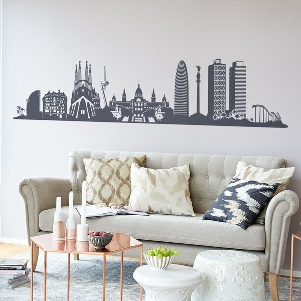 Wall Stickers: Barcelona Skyline