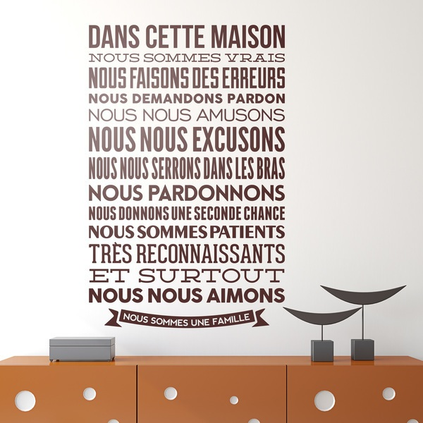 Quotes in french wall stickers - Stickers couloir maison ...