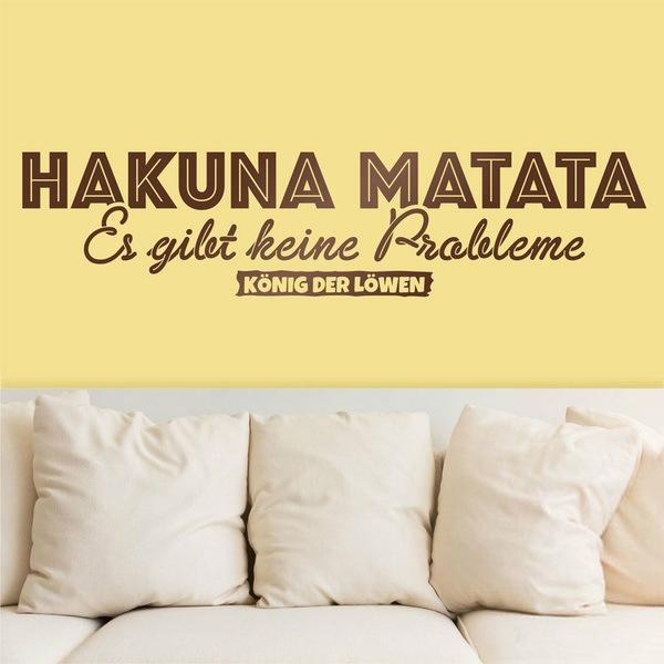 Wall Stickers: Hakuna Matata in German