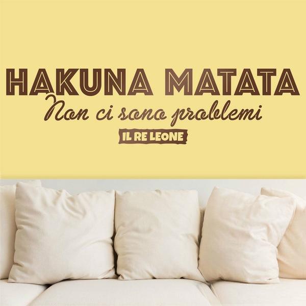 Wall Stickers: Hakuna Matata in Italian