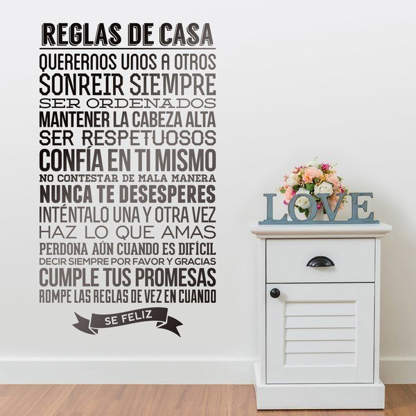 Wall Stickers: Reglas de la Casa