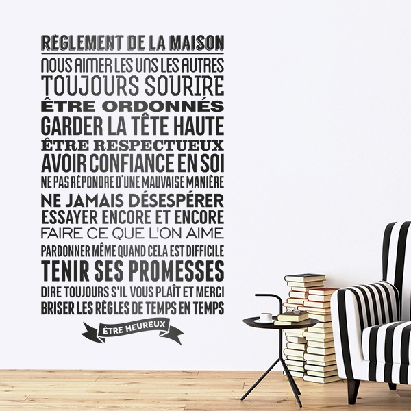 Wall Stickers: Règlement de la maison