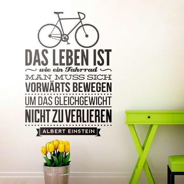 Wall Stickers: Das leben ist wie ein fahrrad...