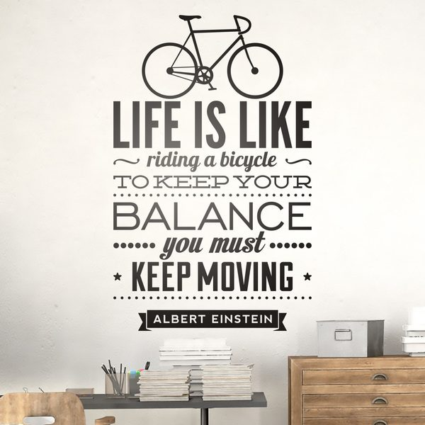 Wall Stickers: Life is like riding a bicycle