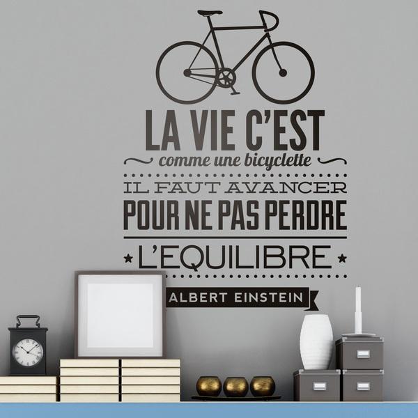 Wall Stickers: La vie c est comme une bicyclette