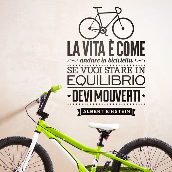 Wall Stickers: La vita è come andare in bicicleta