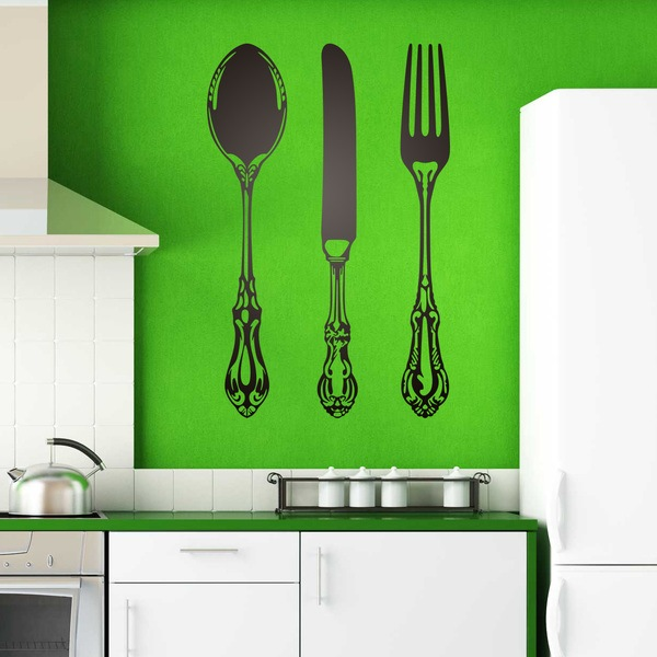 Wall Stickers: Spoon, knife and fork