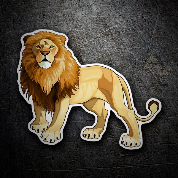 Car and Motorbike Stickers: Lion King