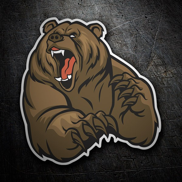 Car and Motorbike Stickers: Grizzly