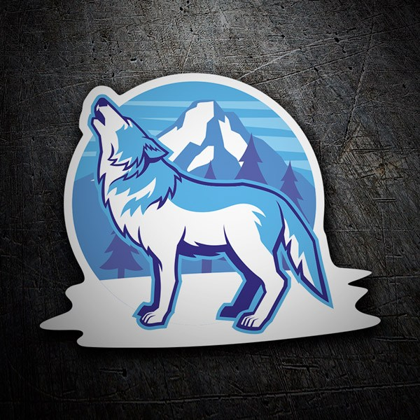 Car and Motorbike Stickers: White Wolf