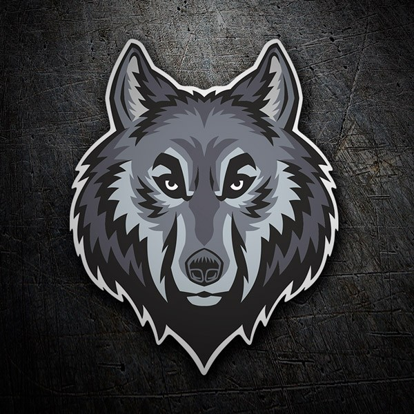 Car and Motorbike Stickers: Wolf head 2