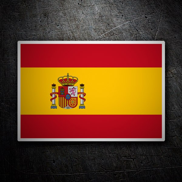 Car and Motorbike Stickers: Spain Flag