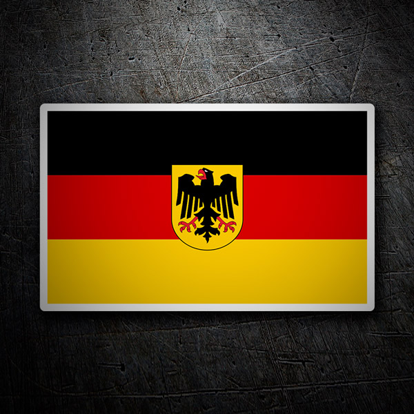 Car and Motorbike Stickers: Flag of Germany with coat