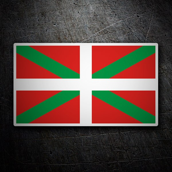 Car and Motorbike Stickers: Basque Country Flag