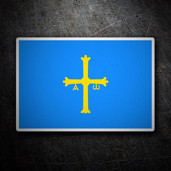 Car and Motorbike Stickers: Asturias flag