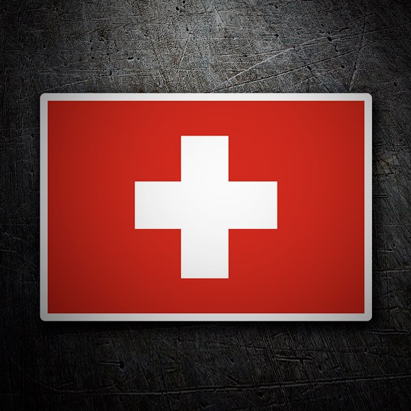 Car and Motorbike Stickers: Flag of Switzerland