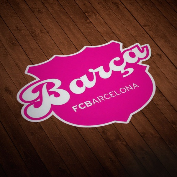 Car and Motorbike Stickers: Futbol Club Barcelona pink
