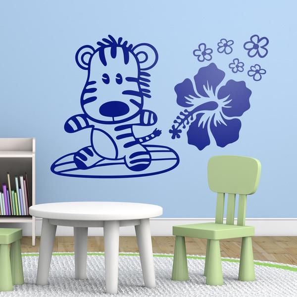Stickers for Kids: Surfer Zebra