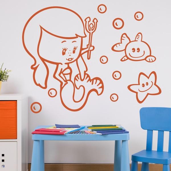 Stickers for Kids: Sirenita