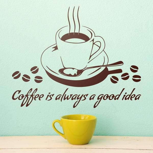 Wall Stickers: Coffee is always a good idea