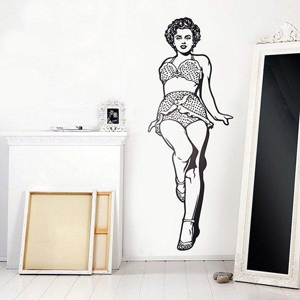 Wall Stickers: Marilyn Monroe in bikini