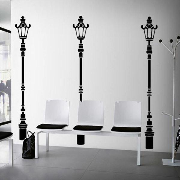 Wall Stickers: Three lamp post