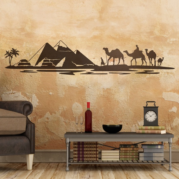 Wall Stickers: Pyramids in the desert