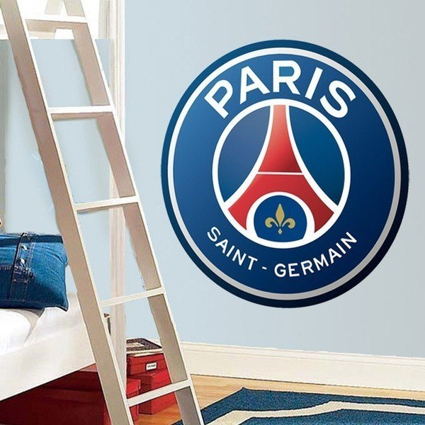 Wall Stickers: Paris Saint-Germain PSG Badge color