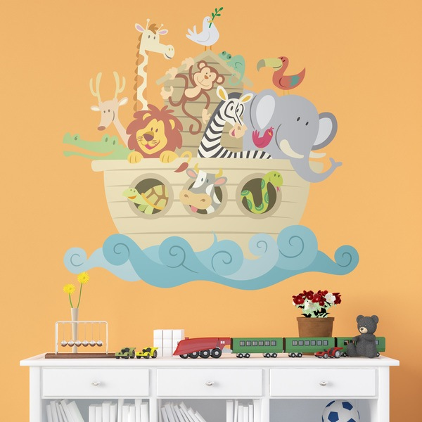 Stickers for Kids: Noah s Ark color